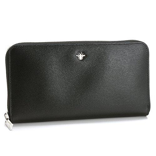 69fdcf7fb438 DIOR HOMME(ディオール・オム) 財布 メンズ LEATHER ラウンドファスナー長財布 ブラック 2ABBH029
