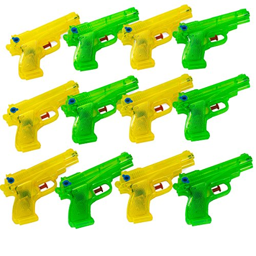 Tigerdoe Squirt Guns - Water Guns Bulk - 12 Pk Water Gun Toy - Water Guns for Kids - Pool Party Favors