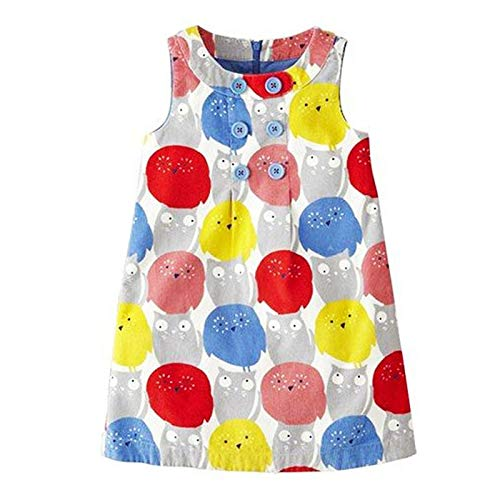 HaHapo Baby Girls Summer Dress 2018 Brand Princess Kids Clothes Flower Dresses Costume 100% Cotton,6,84, -