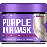 Purple Hair Mask - No Yellow Formula - Purple Toner for Ash, Platinum & Blonde Hair - Made in USA - Hair Toner w/Avocado Oil, Retinol & Silk Protein - Greatly Lighten Brassy Hair - No Yellow Mask