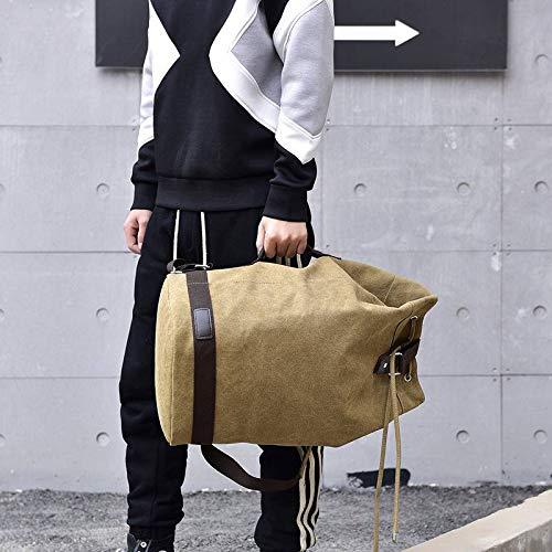 Couleur à Casual Toile Vacances Sac Voyage YiyiLai Kaki Uni Mode en Dos Sport Unisexe wgxUWHT0qa