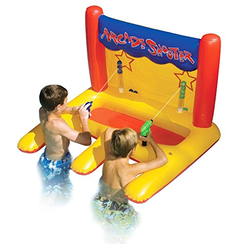 BESTChoiceForYou Dual Arcade Shooter Inflatable Pool Toy Swimming Outdoor Swim Toy Blaster