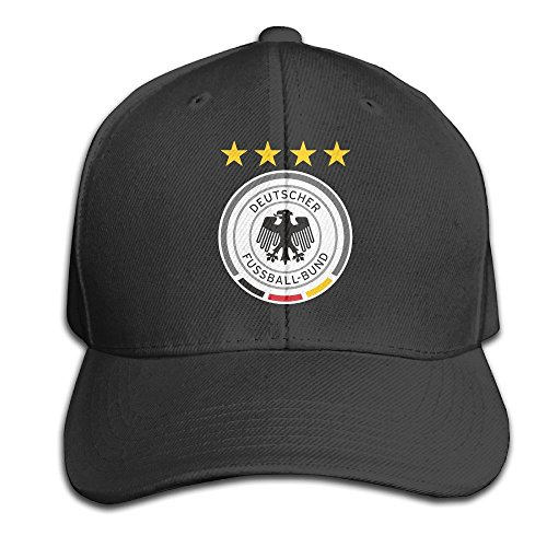 MaNeg Germany Soccer Team Adjustable Hunting Peak Hat & Cap