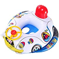 Child Kids Inflatable Swimming Rings Seat Float Boat Wheel Horn Baby Pool Swim Ring Car Shape Aid Trainer
