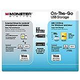 Monster Digital 20861 On-The-Go USB Flash Drive Value Pack (16GB OTG USB 3.0 and 16GB USB 3.0)