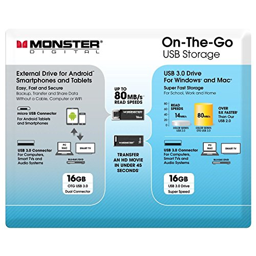 Monster Digital 20861 On-The-Go USB Flash Drive Value - Monster Usb Flash Drive