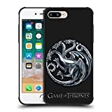Official HBO Game Of Thrones Sigils - Targaryen Silver Various Designs Shockproof Matte Black Case For Apple iPhone 7 Plus / iPhone 8 Plus