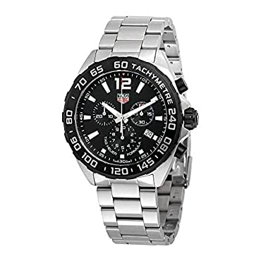 Tag Heuer CAZ1010.BA0842 Men's 'Formula 1' Swiss Quartz Stainless Steel Dress Watch, Color:Silver-Toned