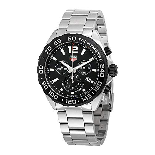 Tag Heuer Men's 'Formula 1' Swiss Quartz Stainless Steel Dress Watch, Color:Silver-Toned (Model: CAZ1010.BA0842)