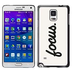 [Neutron-Star] Snap-on Series Teléfono Carcasa Funda Case Caso para Samsung Galaxy Note 4 [Enfoque motivación sesión Cita de la inspiración]