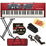 #5: Nord Electro 6D 61-Key Stage Piano Bundle with Soft Case, Adjustable Stand, Expression Pedal, Sustain Pedal, Austin Bazaar Instructional DVD, and Polishing Cloth