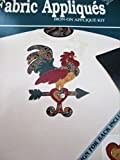 Weather Vane Rooster Fabric Iron-On Applique Kit