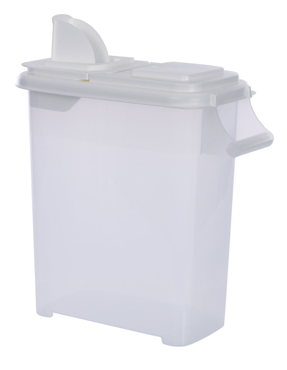 Large (Up to 22lb) Fresh Dry Dog & Cat Food Plastic Storage Container With Flip Lid & Pour Spout For Pet Food, and Bird Seed, BPA Free by Buddeez by Buddeez (Image #1)
