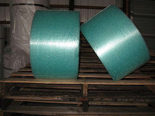 3/16'' Small Green Recycled Bubble, 12'' X 600' Per Order, Perfed 12'' by Cutting Edge