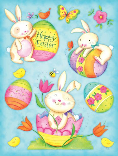 Holographic Foil Easter Clings 12