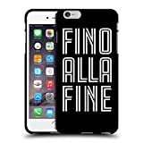 Official Juventus Football Club Fino Alla Fine Black Type Black Soft Gel Case for Apple iPhone 6 Plus/iPhone 6s Plus