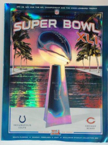 Official Super Bowl XLI Program Hologram Version Indianapolis Colts vs Chicago Bears