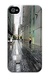 iPhone 4S Case, iPhone 4S Cases - London Street Rainy Weather Polycarbonate Hard Case Cover for iPhone 4/4S
