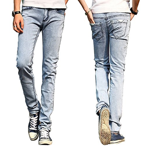 Cheap Eyer New Classic Men Stylish Designed Straight Slim Fit Trousers Casual Jean Pants