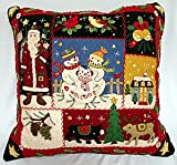 HANDMADE CHRISTMAS PILLOW - PATCHWORK CHRISTMAS