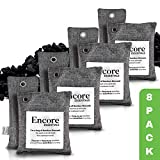 Encore Essentials Bamboo Charcoal Air Purifying Bag 8 Pack (4x200g, 4x100g) - Powerful Activated Charcoal Bags Odor Absorber to Naturally Freshen Air In Home & Car - Kid & Pet-Friendly Odor Absorber (Color: Grey)