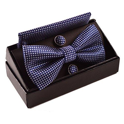 Alizeebridal Vintage Checkered Handkerchief Cufflinks