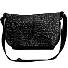 Messenger Bags Abstract Psychedelic Science Chemistry Durable Singer Shoulder Bags Casual Handbag Men Women
