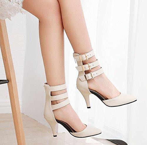 Femmes Riz Escarpins Classique Blanc MissSaSa PBxptx