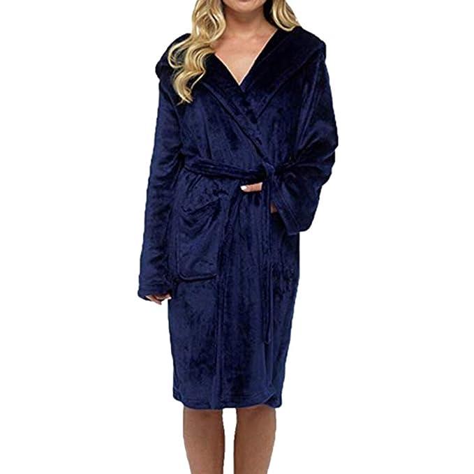 bee6dcdabb Juleya Women's Towelling Robe Towel Shawl Collar Bathrobe Dressing ...