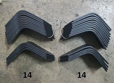 - 14 Each LH & RH Tiller Tines for Land Pride RTA10 Series 820-055C 820-056C