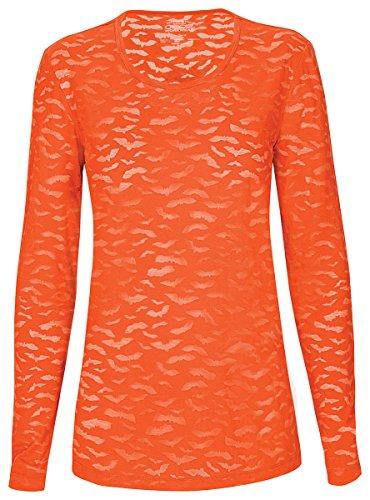 Cherokee Workwear Burnout T shirt Pumpkin Small 4882