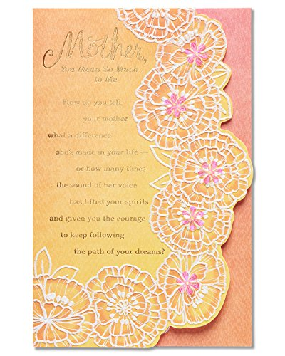 American Greetings Mean So Much Mother's Day Card With Sequins (5856850)