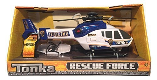 (Tonka Rescue Force Police Helicopter - Lights and Sound, Blue and White by Rescue Force)