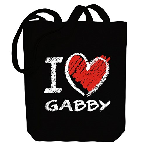Bag I Names style Canvas Tote love chalk Female Gabby Idakoos dpqSzwYY