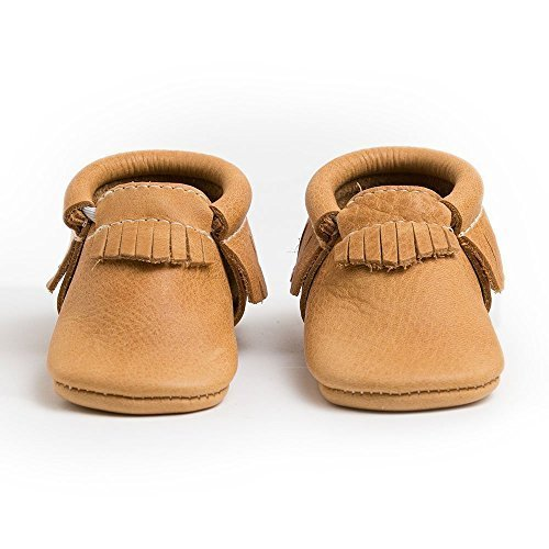 Freshly Picked Soft Sole Leather Baby Moccasins - Beehive State - Size 1