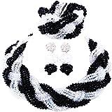 laanc Nigerian Wedding Custom Necklace Earrings Bracelet African Jewelery Bride Jewelry Set (Black and Transparent)
