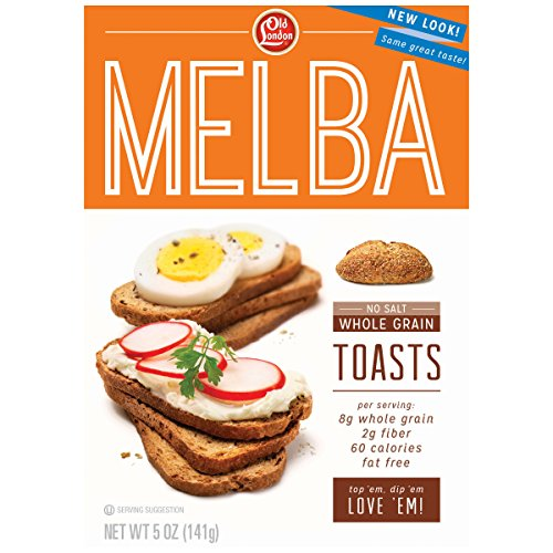Old London, Melba Toasts, Salt Free Whole Grain, 5 Ounce (Pack of 12) (Best Whole Grain Chips)