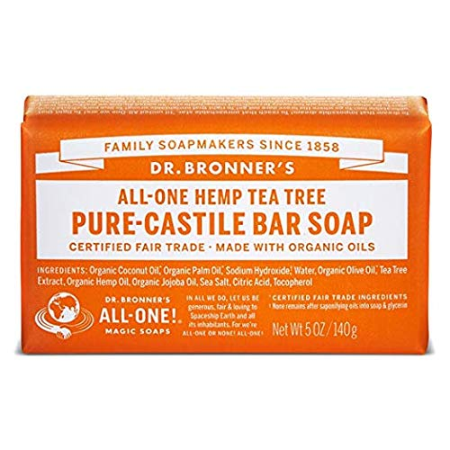 Organic Bar Soap Tea Tree - Dr. Bronner's Organic Pure Castile Bar Soap - Tea Tree - 5 oz