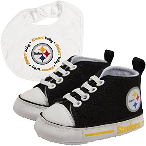 (Pittsburgh Steelers NFL Infant Bib and Shoe Gift Set)