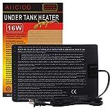 Aiicioo 16 Watt Durable Under Tank Heating Pad 8x12 Inch Reptile Heater Mat Waterproof Seeding Hydroponic Growth Fish Tank Heat Mat