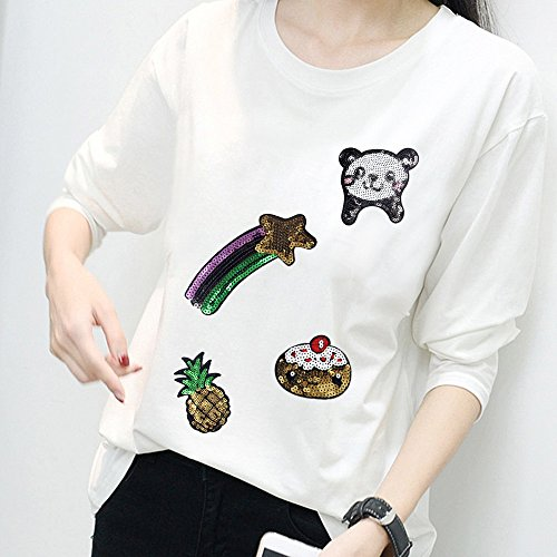T Patches Patches Shirt Jeans Bags 13PCS Sequins Dresses Clothing Cute Scarves Crafts Applique Cartoon DIY gxq81Hw