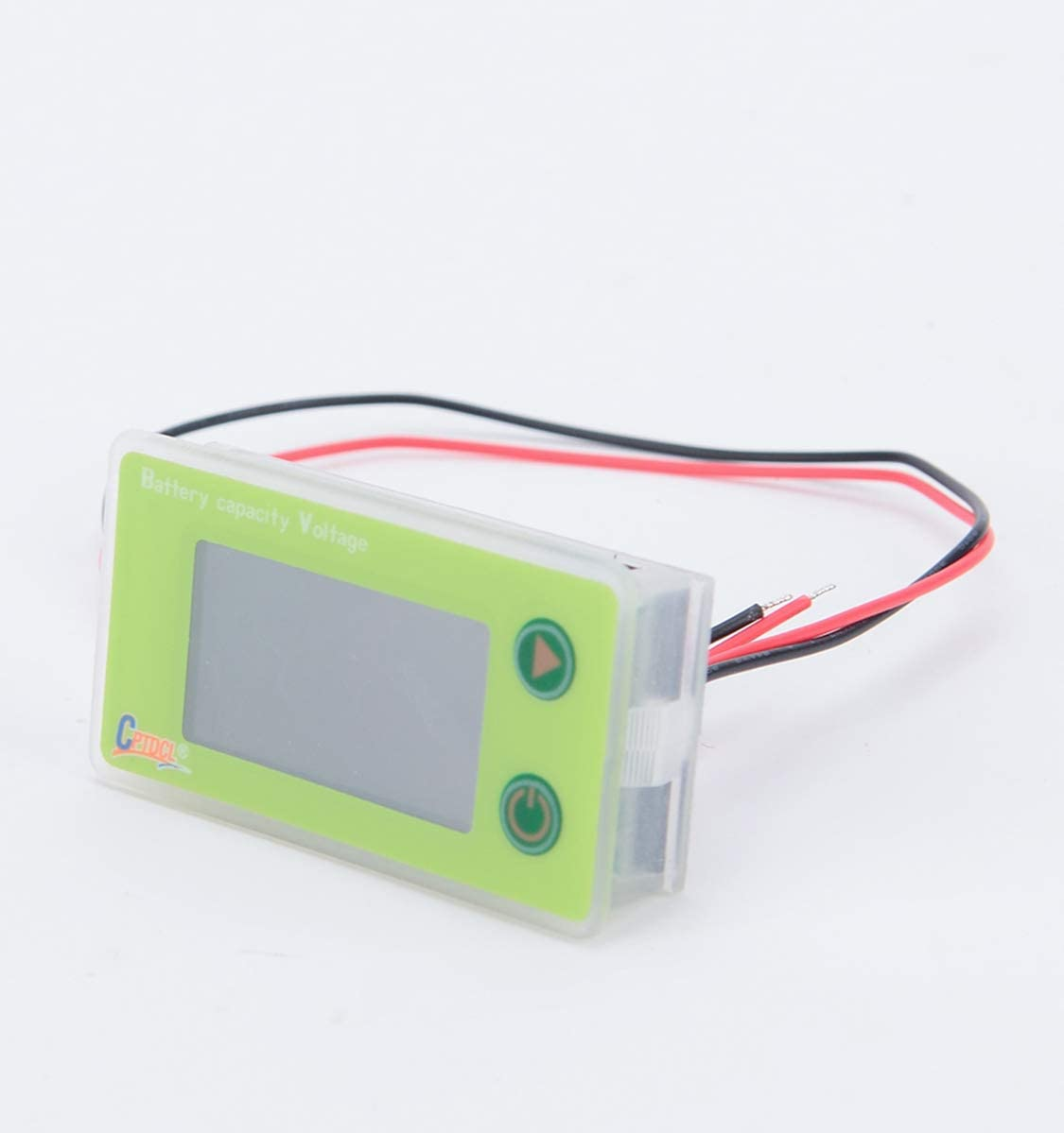 Green CPTDCL Multifunction 36V LCD Lead Acid Battery Capacity Meter Voltmeter with Temperature Display
