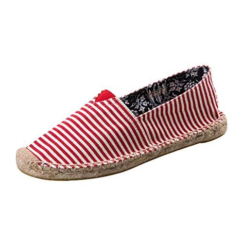 Légères Les Le Porter Que Pêcheur de et Respirant Tailles Petit Hommes Les Chaussures d'été Tissu Nombre Bande Réel Mince Chaussures Peuvent Paresseux des Femmes Plus est Taille Rouge de Décontractées de wXwxv