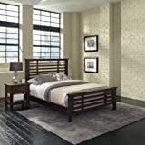 Home Styles Cabin Creek Queen Bed and Night Stand with Metal Accents