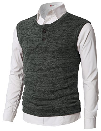 Argyle Jumper - H2H Mens Casual Slim Fit Argyle V-Neck Golf Sweater Vest Charcoal US S/Asia M (CMOV043)