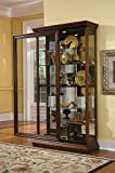 Pulaski Two Way Sliding Door Curio, 43 by 16 by