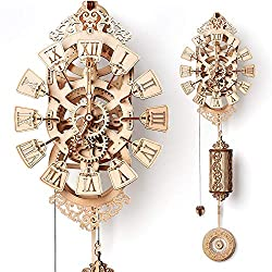 Wood Trick Pendulum Wall Clock Kit, Wooden DIY Wall Clock Big - No Batteries - 3D Wooden Puzzle, Brain Teaser for Adults and Kids - 3D Wall Clock Mechanical Model
