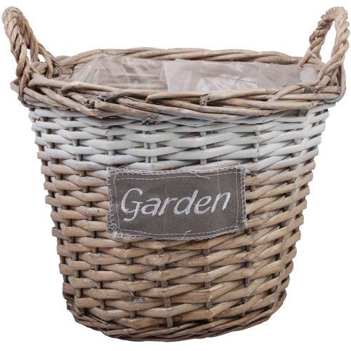 Weidenkorb Blumenkorb Gartenkorb Ernte-Korb Geschenkkorb