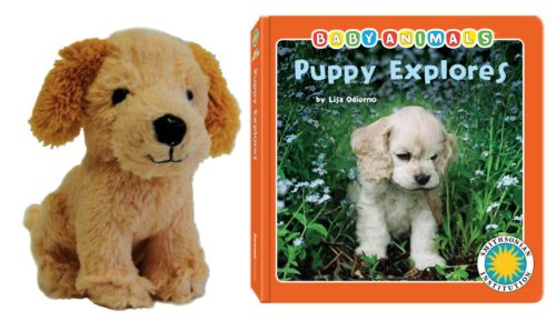 - Puppy Explores (Baby Animals Book & Toy Sets) (with stuffed toy baby animal) (Smithsonian Baby Animals)