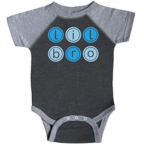 inktastic - Lil Bro Circles Infant Creeper 12 Months Smoke and Granite ()